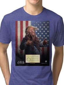 PRESIDENT TRUMP Cthulhu 2016 Official Portrait Tri-blend T-Shirt