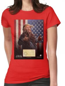 PRESIDENT TRUMP Cthulhu 2016 Official Portrait Womens Fitted T-Shirt