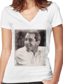 Perry Como, Singer Women's Fitted V-Neck T-Shirt