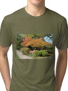 Corner of the Yard in Autumn Tri-blend T-Shirt