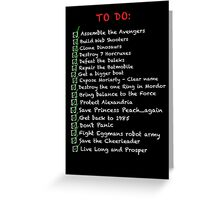 My busy 'To Do' List Greeting Card