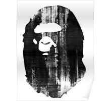 bape black and white Poster