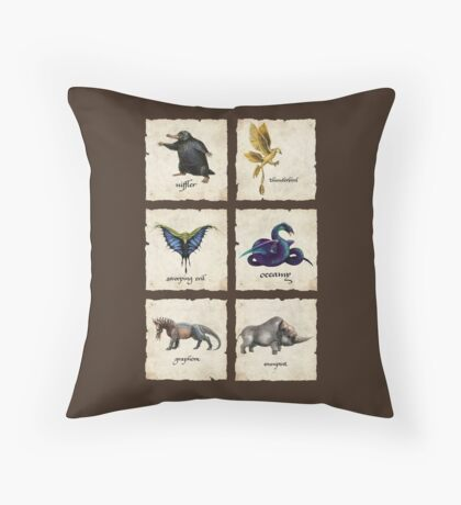 Awesome Creaturess Throw Pillow
