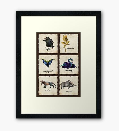 Awesome Creaturess Framed Print