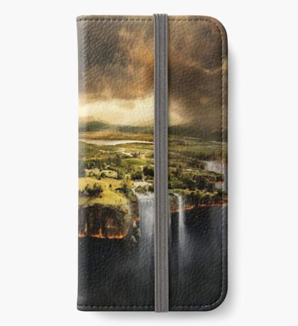 The Edge of Earth - Fantasy Flat Earth iPhone Wallet/Case/Skin