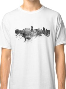 Milwaukee skyline in black watercolor Classic T-Shirt