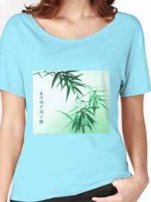 Green Bamboo Twig Women's Relaxed Fit T-Shirt