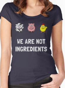 We are not ingredients Pig Shirt Women's Fitted Scoop T-Shirt