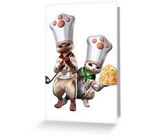 Monster Hunter - Felyne Chefs Greeting Card