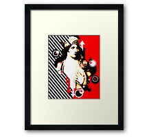 Madam Stripe Framed Print
