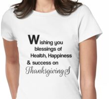 Wishing You Thanks Womens Fitted T-Shirt