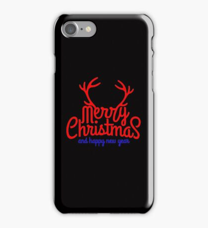 MERRY CHRISTMAS AND HAPPY NEW YEAR iPhone Case/Skin
