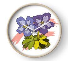 Violets for Sappho - Sapphic Pride Flag Clock