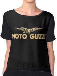 Moto Guzzi retro vintage logo Chiffon Top