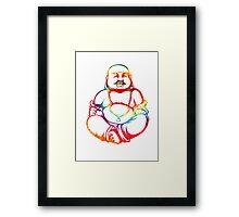 Tie-Dye Buddha Framed Print
