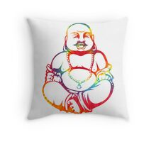 Tie-Dye Buddha Throw Pillow
