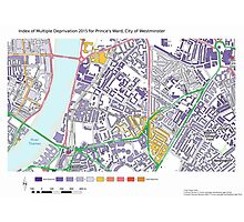 Multiple Deprivation Prince's ward, Westminster Photographic Print