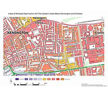 Multiple Deprivation Queen's Gate ward, Kensington & Chelsea Photographic Print