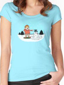 Heat Miser Melts Frosty The Snowman Women's Fitted Scoop T-Shirt