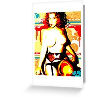 Retro Redhead Greeting Card