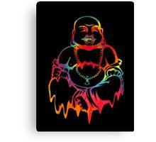 Melting Tie-Dye Buddha Canvas Print