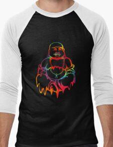 Melting Tie-Dye Buddha Men's Baseball ¾ T-Shirt