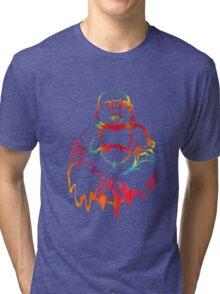 Melting Tie-Dye Buddha Tri-blend T-Shirt