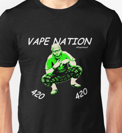Vape Nation Fresh White 100% Organic Plastic Tee - ONE:Print Unisex T-Shirt