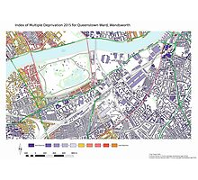 Multiple Deprivation Queenstown ward, Wandsworth Photographic Print