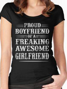 Proud Boyfriend of a Freaking awesome Girlfriend Shirt Women's Fitted Scoop T-Shirt