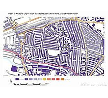 Multiple Deprivation Queen's Park ward, Westminster Photographic Print