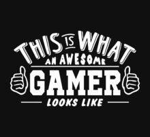 This Is What An Awesome Gamer Looks Like Kids Tee