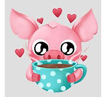 Molly the Micro Pig - Cup of Tea Photographic Print