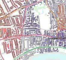 Multiple Deprivation Ravenscourt Park ward, Hammersmith & Fulham Sticker