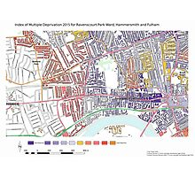 Multiple Deprivation Ravenscourt Park ward, Hammersmith & Fulham Photographic Print