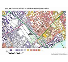 Multiple Deprivation Redcliffe ward, Kensington & Chelsea Photographic Print