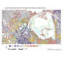 Multiple Deprivation Regent's Park ward, Westminster Photographic Print
