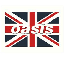 Oasis - Union Flag Art Print