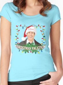 I Love Christmas Vacation Women's Fitted Scoop T-Shirt