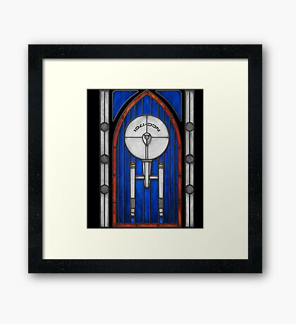 Stained Glass Series - Enterprise Framed Print