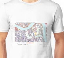 Multiple Deprivation Rotherhithe ward, Lewisham Unisex T-Shirt