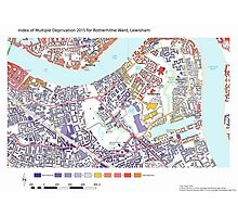 Multiple Deprivation Rotherhithe ward, Lewisham Photographic Print