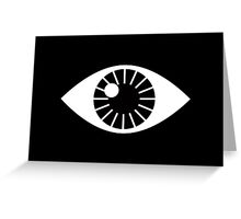 Eyes Wide Open - on Black Greeting Card