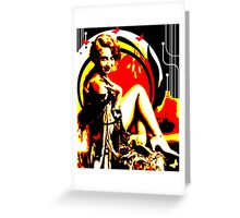 Crimson Moon Greeting Card