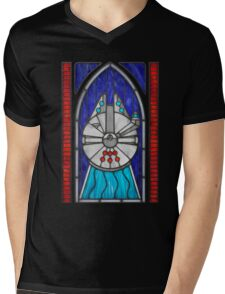 Stained Glass Series - Falcon Mens V-Neck T-Shirt