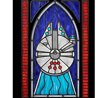 Stained Glass Series - Falcon Photographic Print
