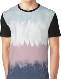 Abstract Stripe Graphic T-Shirt