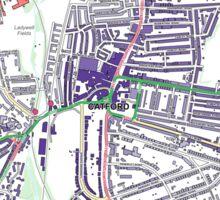 Multiple Deprivation Rushey Green ward, Lewisham Sticker