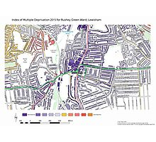 Multiple Deprivation Rushey Green ward, Lewisham Photographic Print