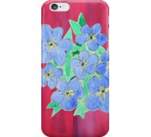 Forget-Me-Nots iPhone Case/Skin